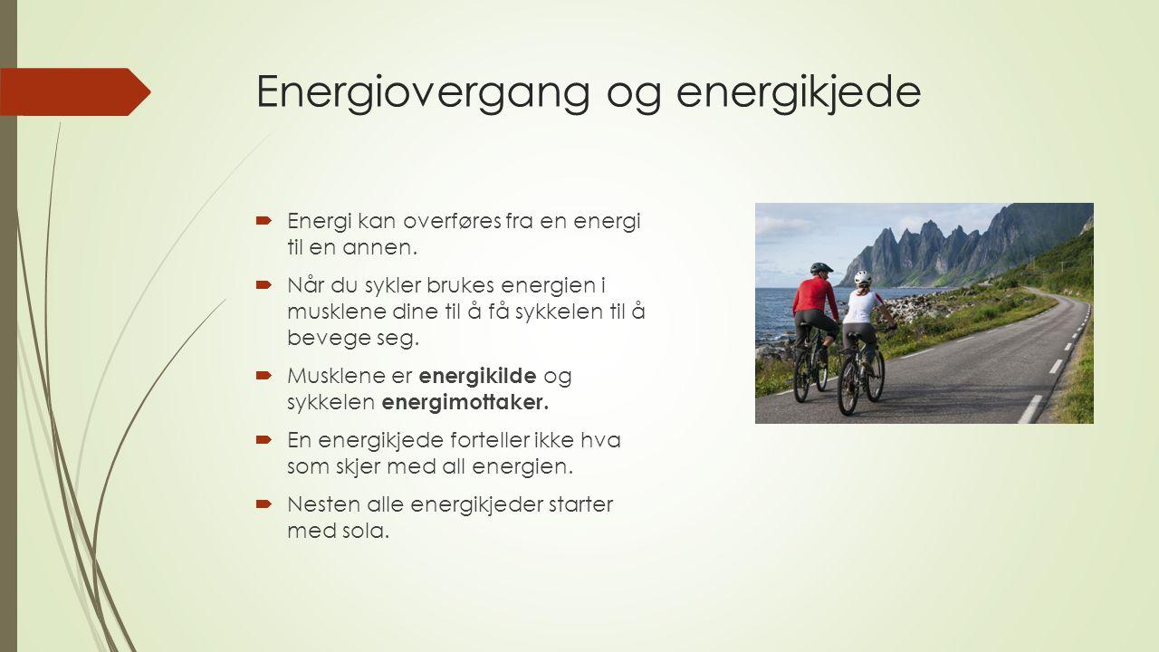 Energiovergang og energikjede