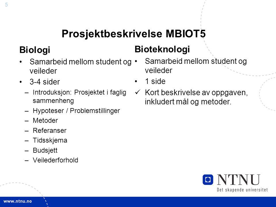 Prosjektbeskrivelse MBIOT5
