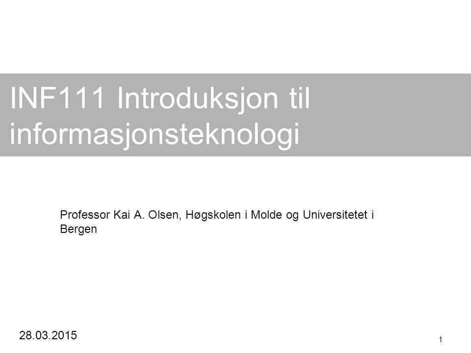 INF111 Introduksjon til informasjonsteknologi