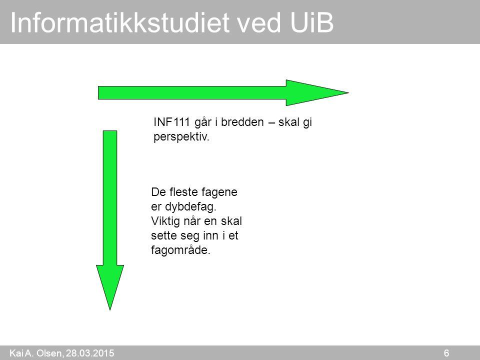 Informatikkstudiet ved UiB