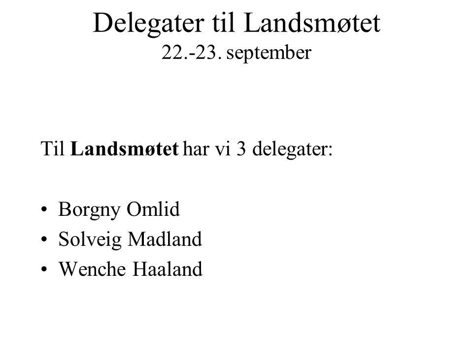 Delegater til Landsmøtet 22.-23. september