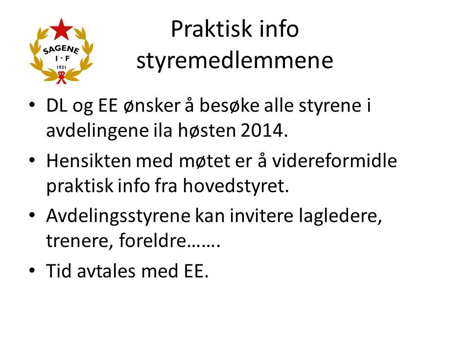 Praktisk info styremedlemmene