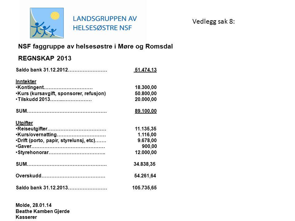 Vedlegg sak 8: NSF faggruppe av helsesøstre i Møre og Romsdal