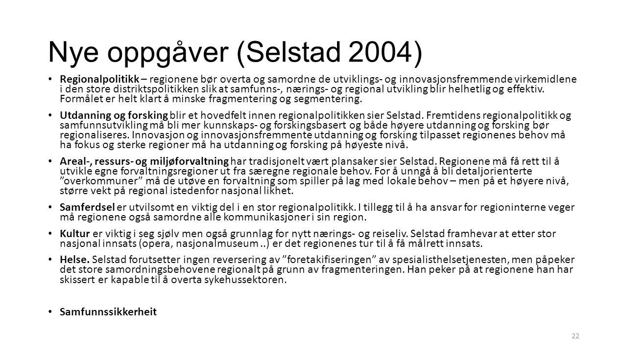 Nye oppgåver (Selstad 2004)