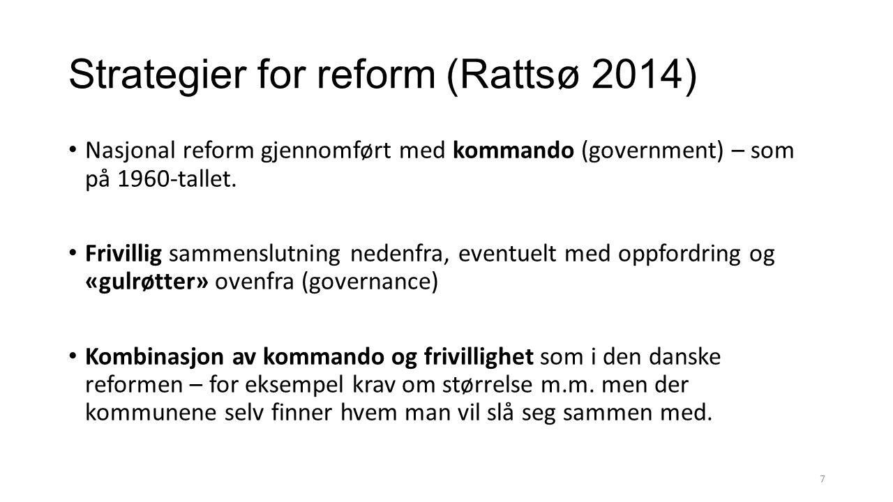 Strategier for reform (Rattsø 2014)