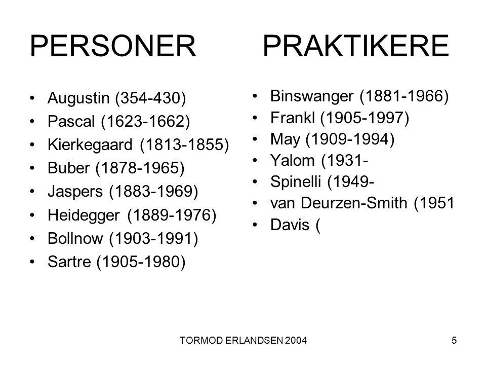 PERSONER PRAKTIKERE Augustin (354-430) Pascal (1623-1662)