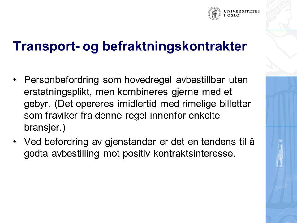 Transport- og befraktningskontrakter
