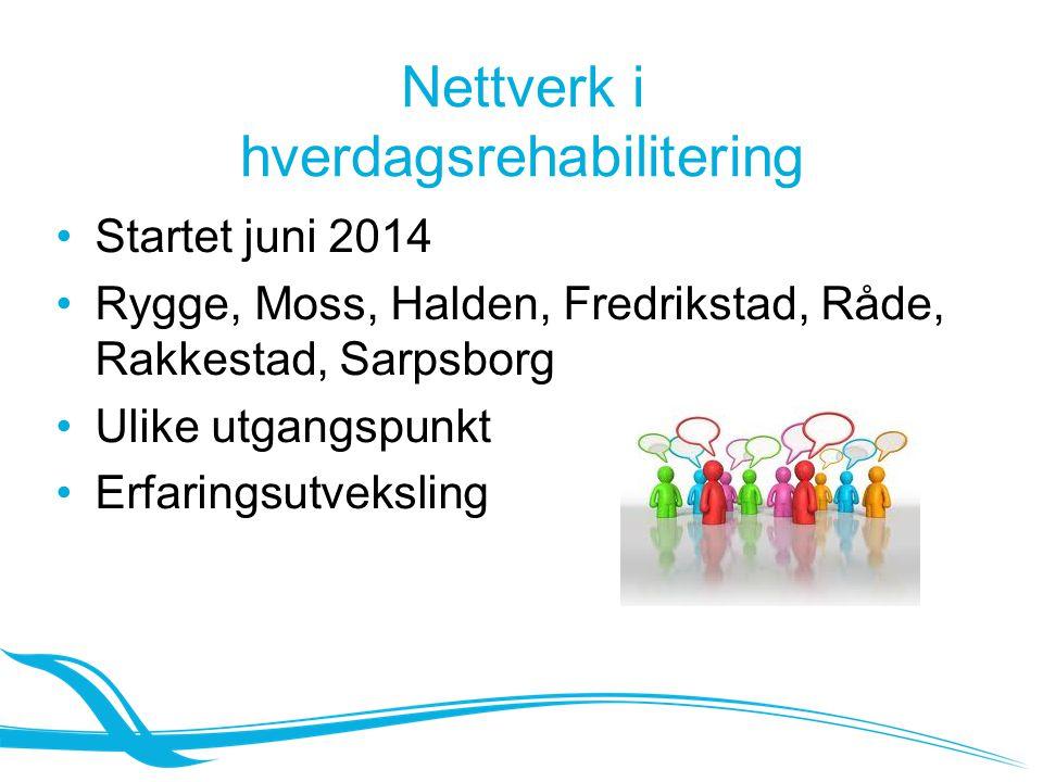 Nettverk i hverdagsrehabilitering