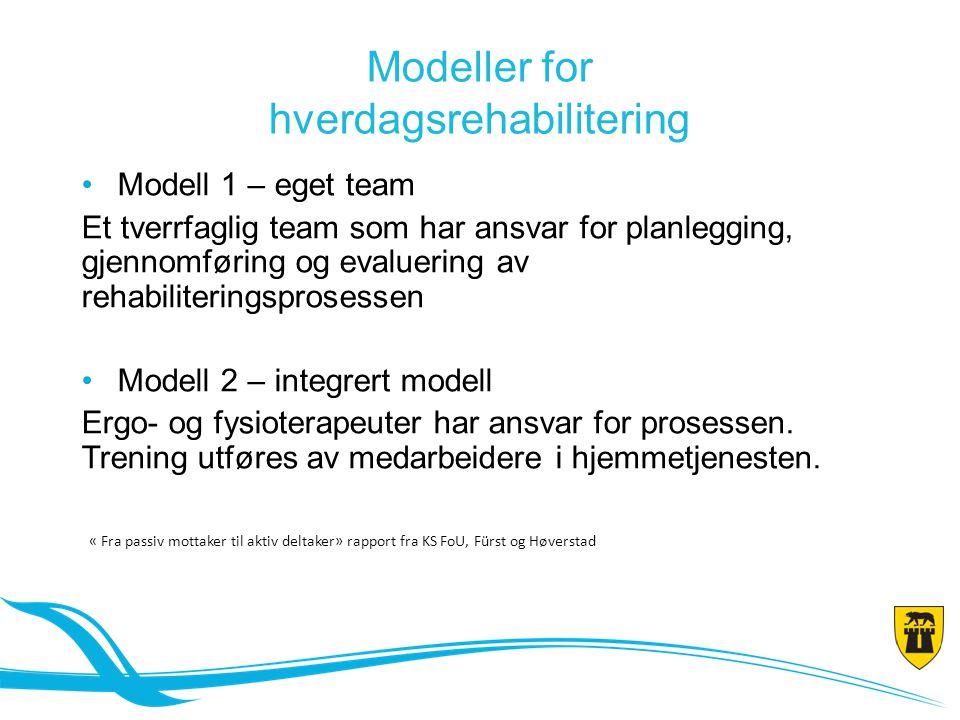 Modeller for hverdagsrehabilitering