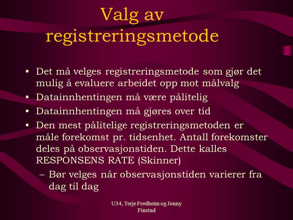Valg av registreringsmetode
