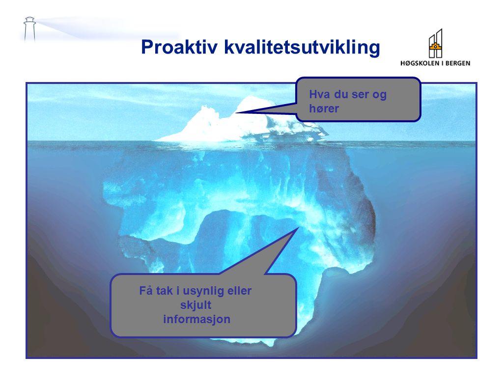 Proaktiv kvalitetsutvikling