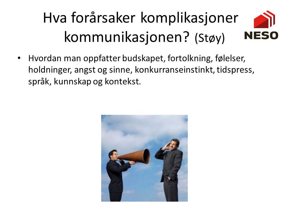 Hva forårsaker komplikasjoner i kommunikasjonen (Støy)