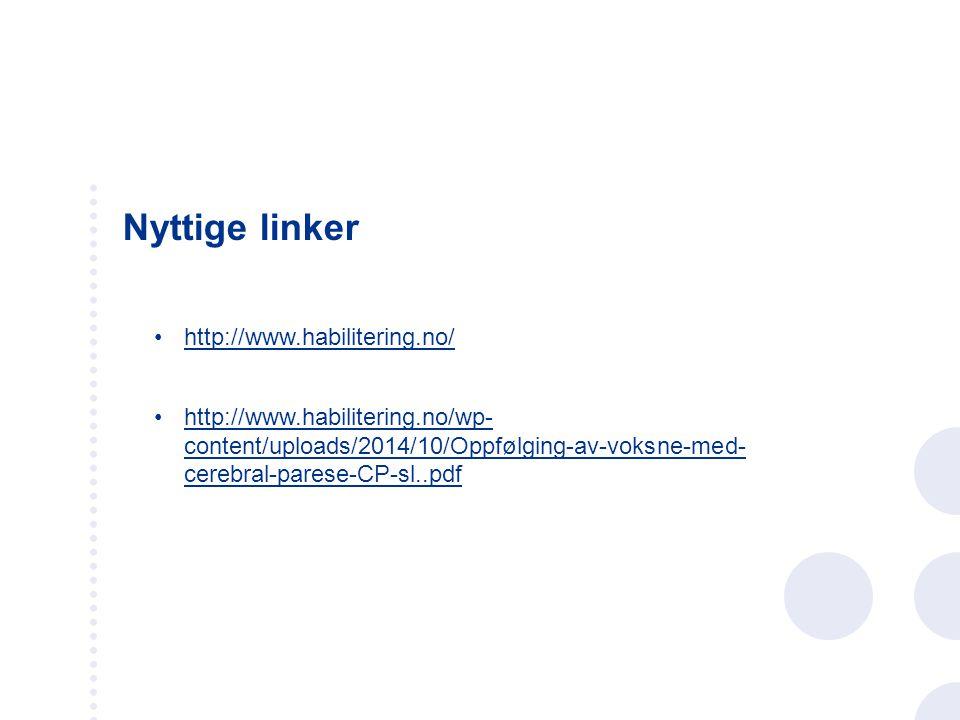 Nyttige linker http://www.habilitering.no/