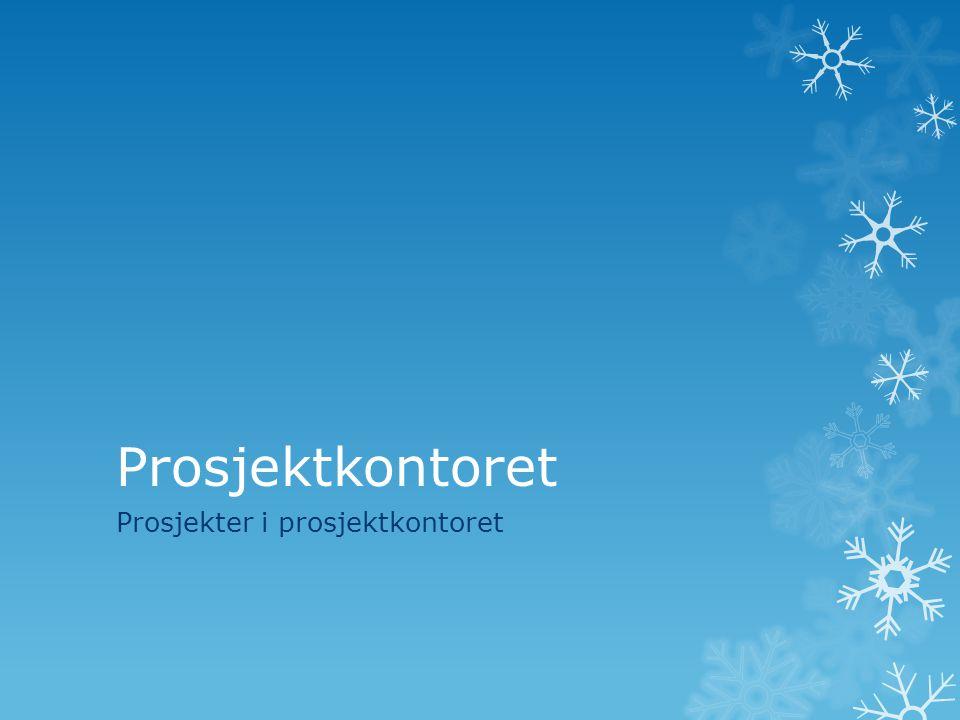 Prosjekter i prosjektkontoret