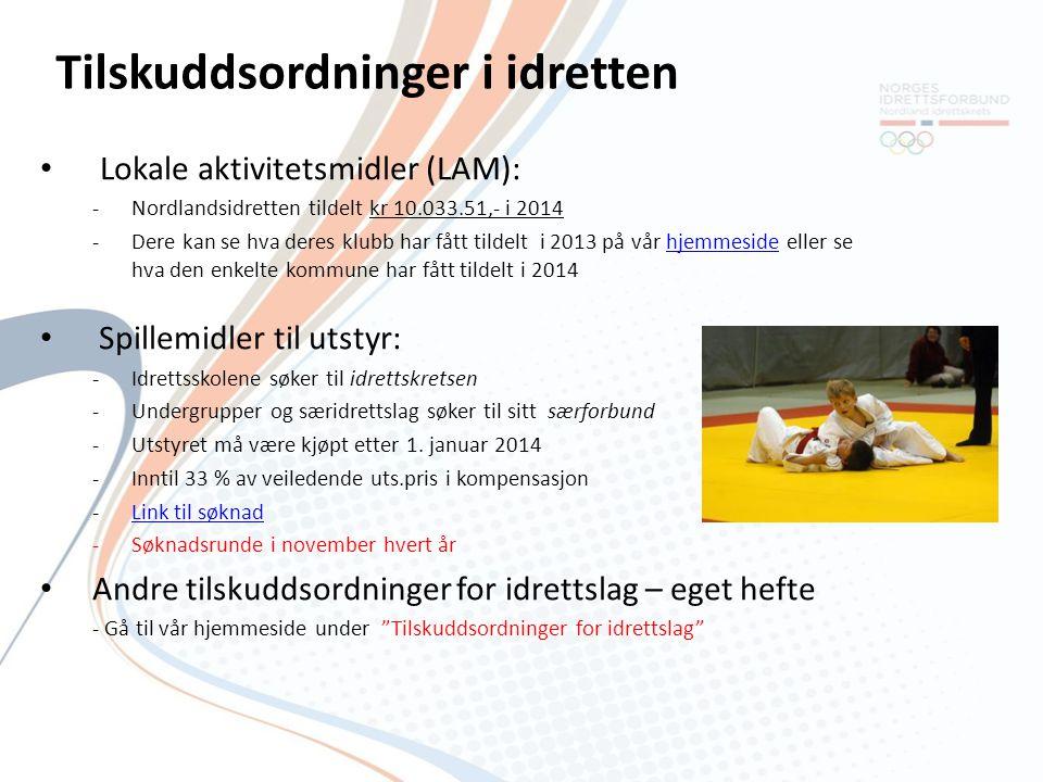 Tilskuddsordninger i idretten