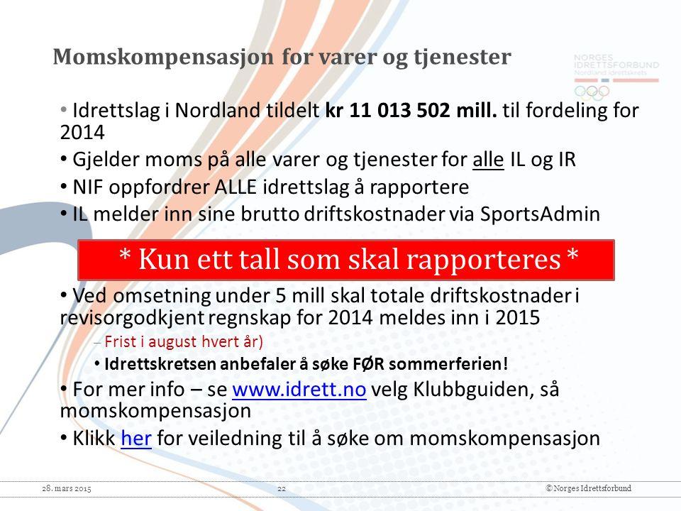 Momskompensasjon for varer og tjenester