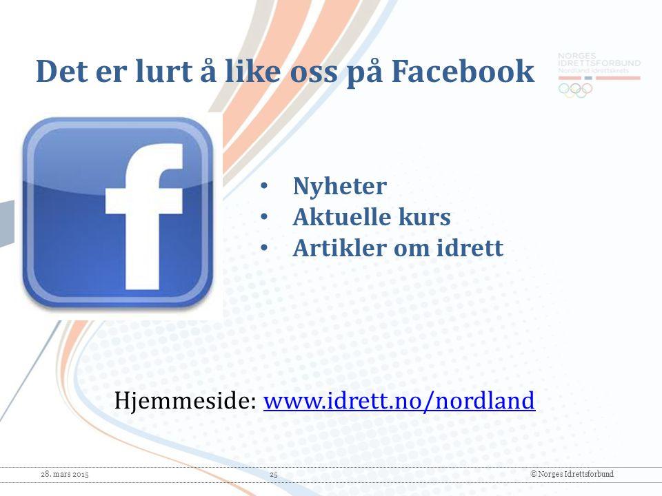 Det er lurt å like oss på Facebook