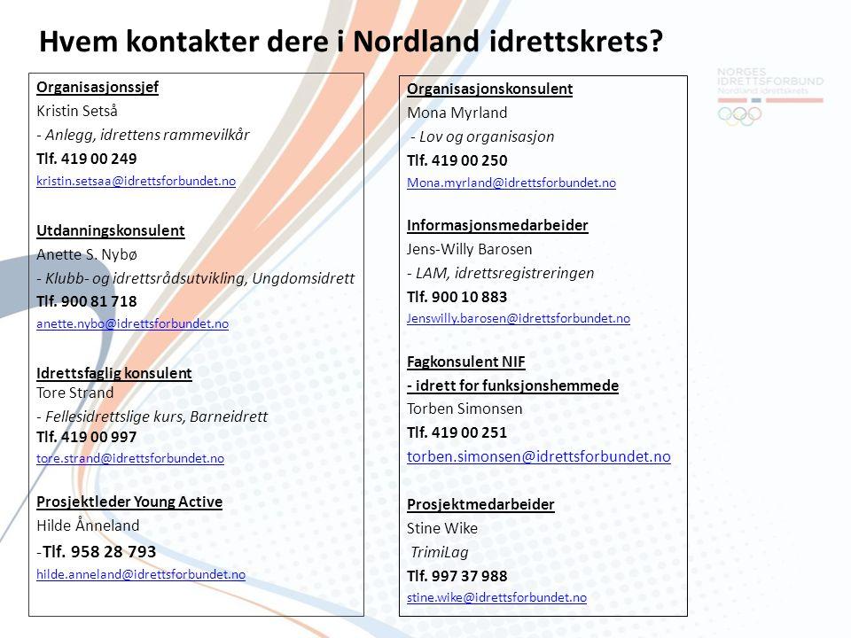 Hvem kontakter dere i Nordland idrettskrets