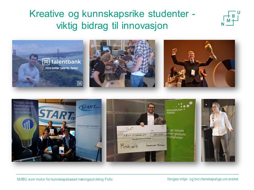 Kreative og kunnskapsrike studenter - viktig bidrag til innovasjon