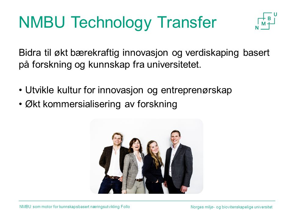 NMBU Technology Transfer