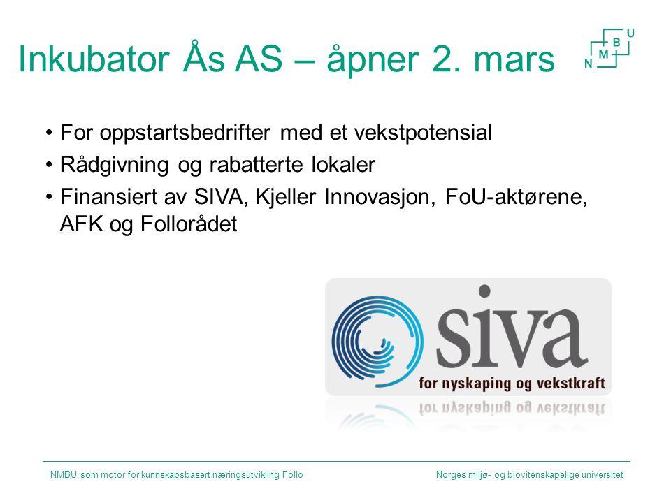 Inkubator Ås AS – åpner 2. mars