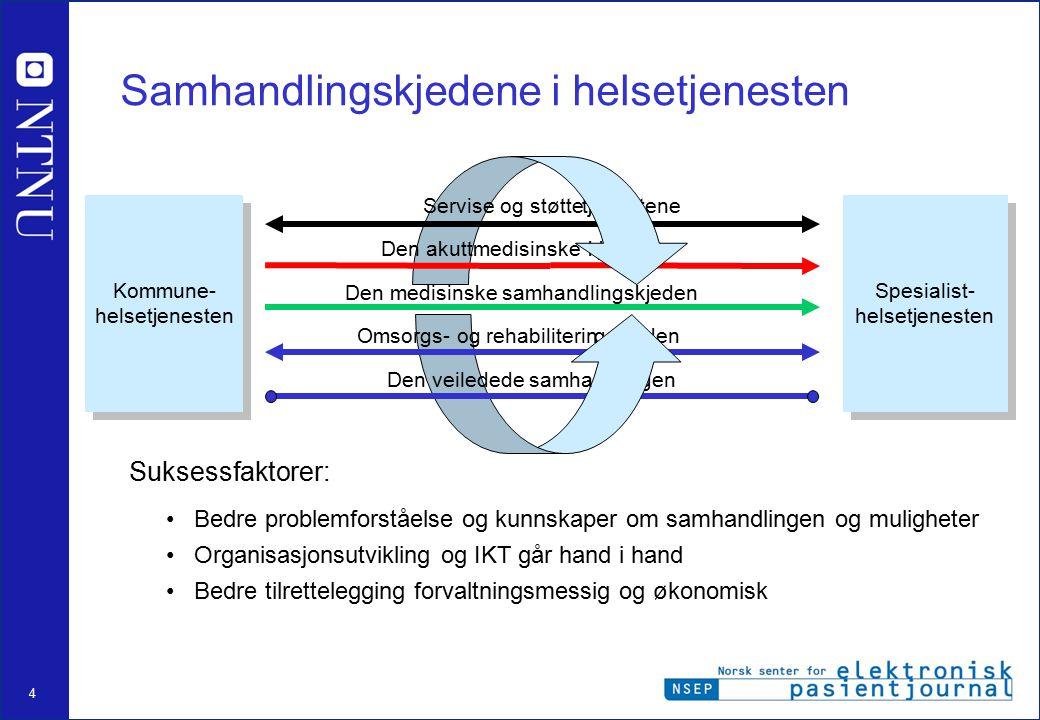 Samhandlingskjedene i helsetjenesten
