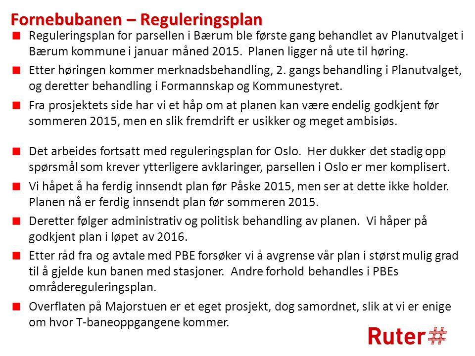 Fornebubanen – Reguleringsplan