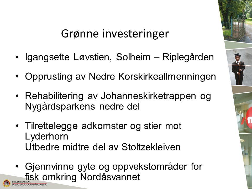 Grønne investeringer Igangsette Løvstien, Solheim – Riplegården