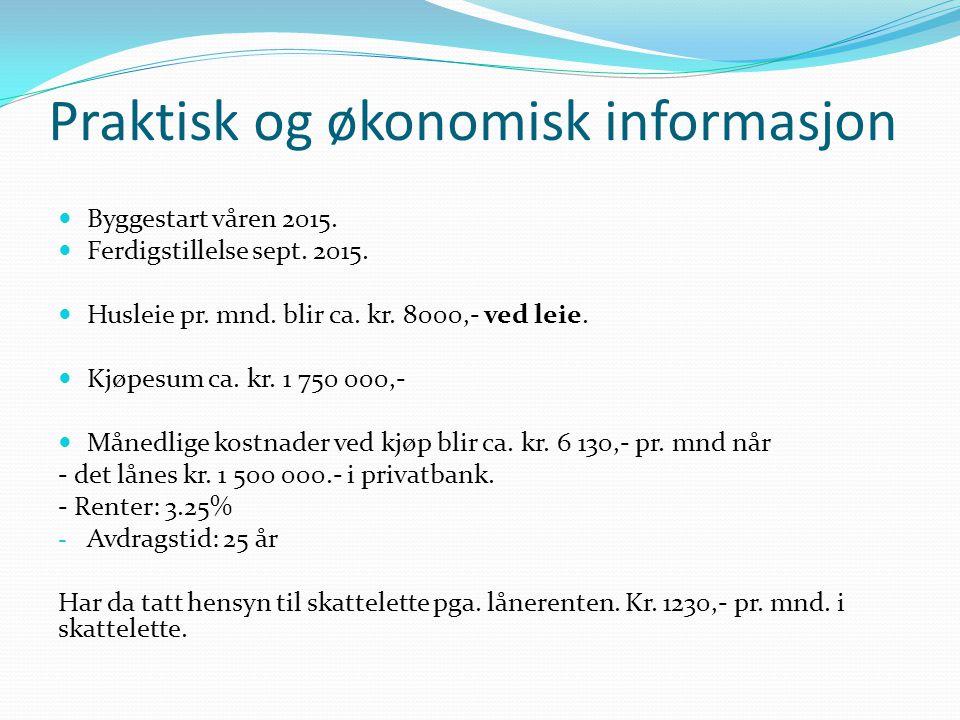 Praktisk og økonomisk informasjon