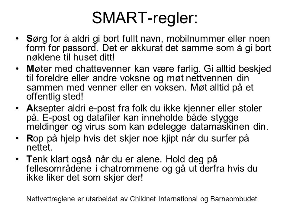 SMART-regler:
