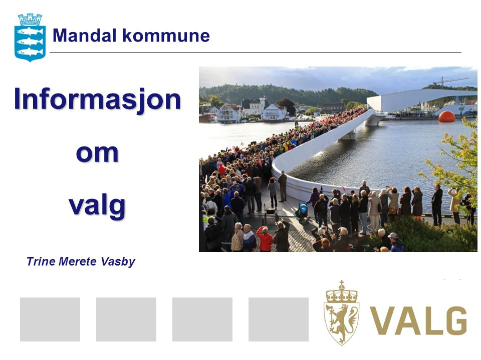 Mandal kommune Informasjon om valg Trine Merete Vasby