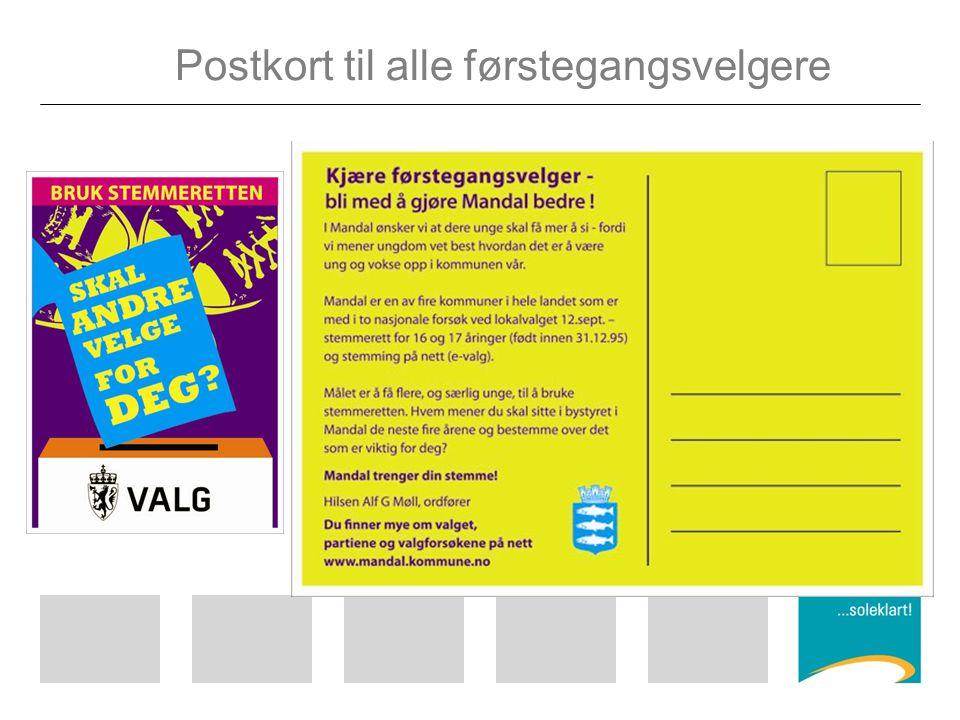 Postkort til alle førstegangsvelgere