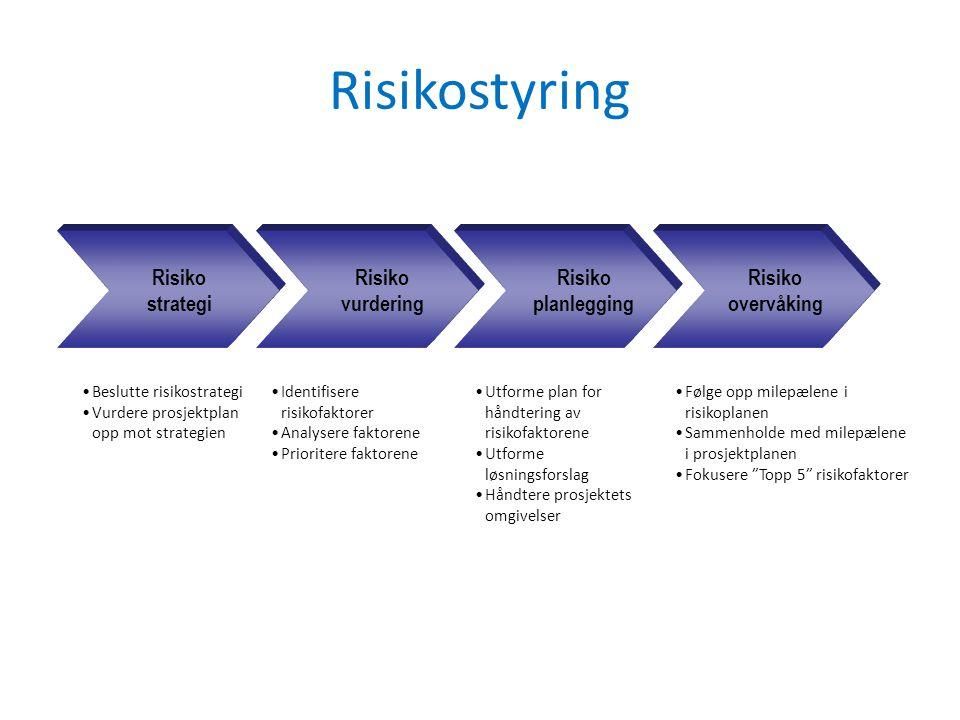 Risikostyring Risiko strategi vurdering planlegging overvåking