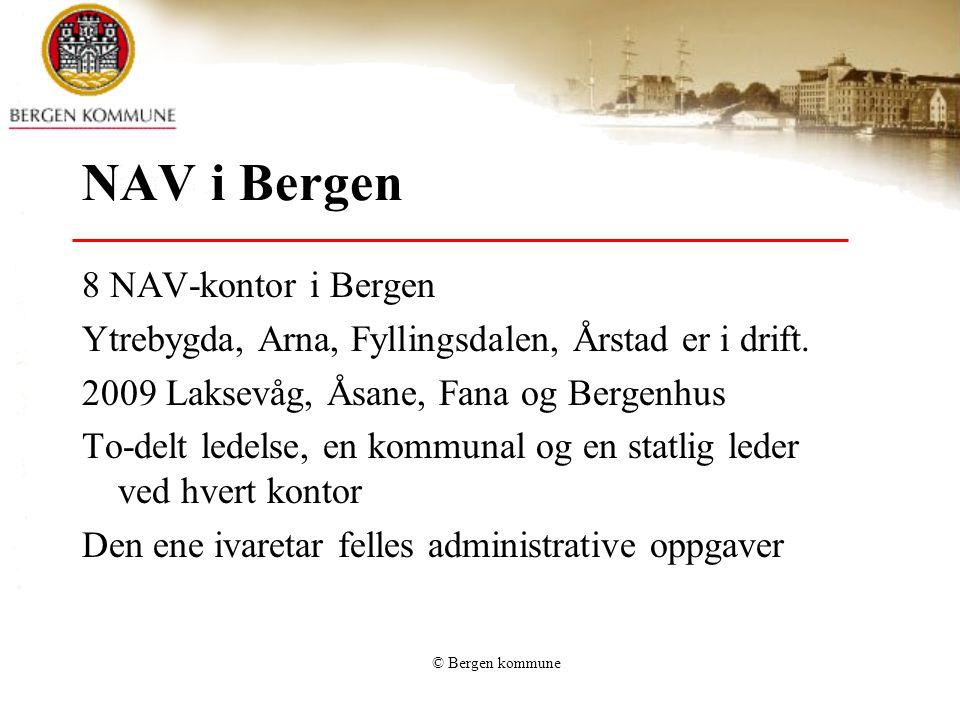 NAV i Bergen 8 NAV-kontor i Bergen