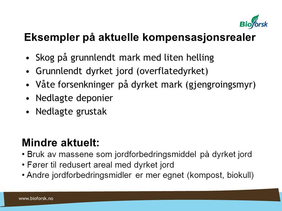 Eksempler på aktuelle kompensasjonsrealer