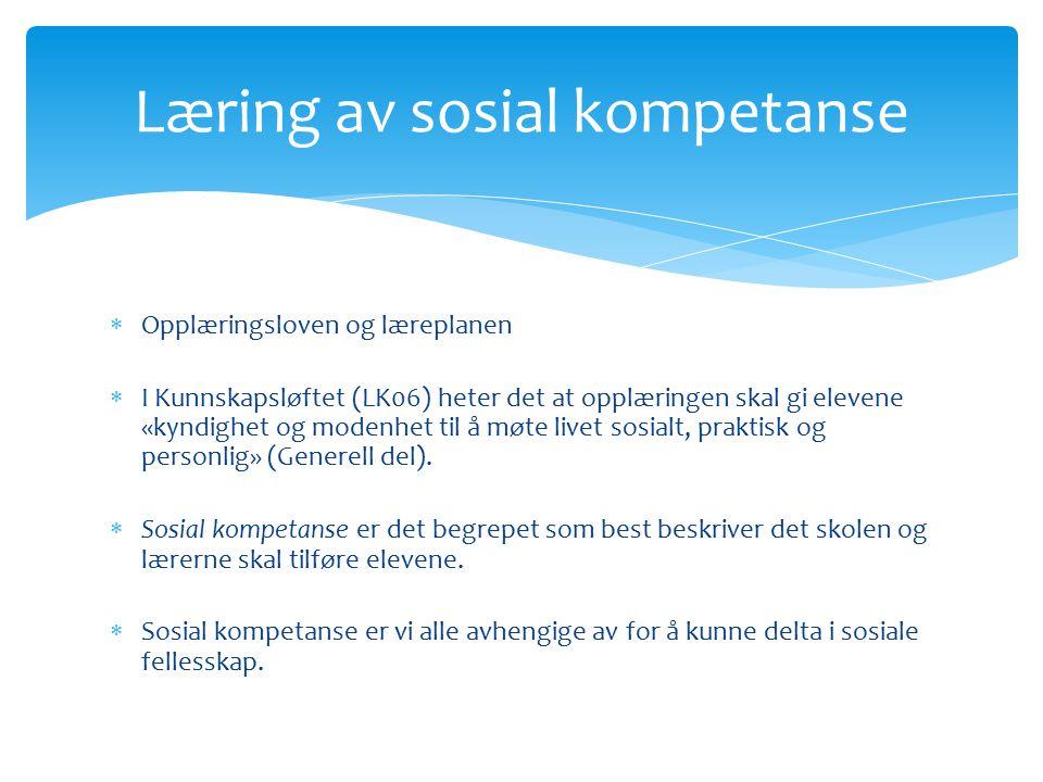Læring av sosial kompetanse