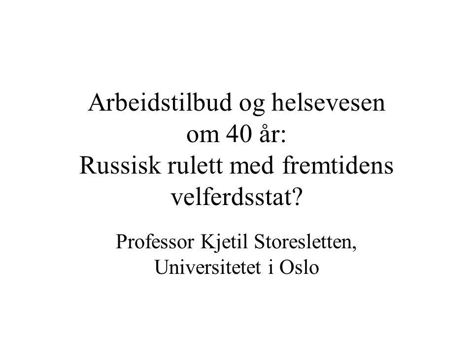 Professor Kjetil Storesletten, Universitetet i Oslo