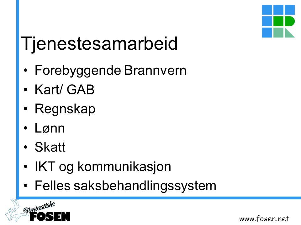 Tjenestesamarbeid Forebyggende Brannvern Kart/ GAB Regnskap Lønn Skatt