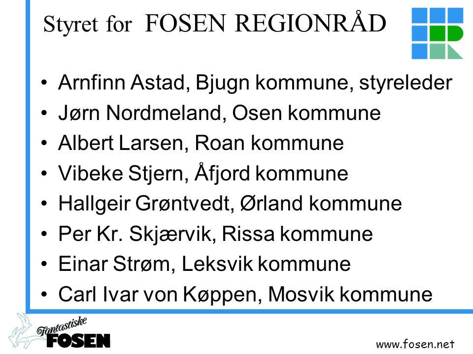 Styret for FOSEN REGIONRÅD