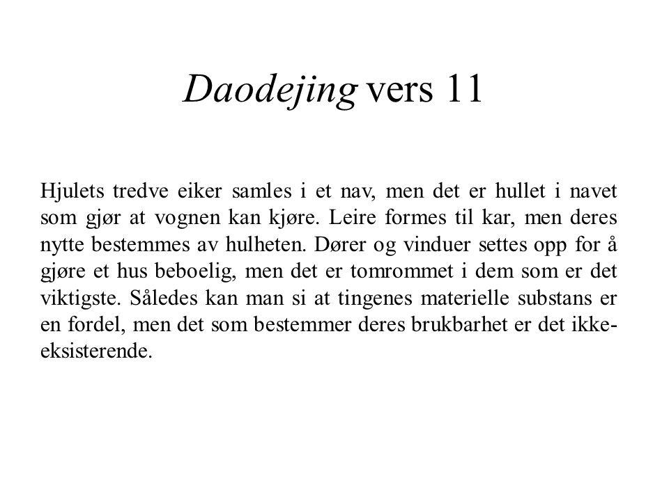 Daodejing vers 11
