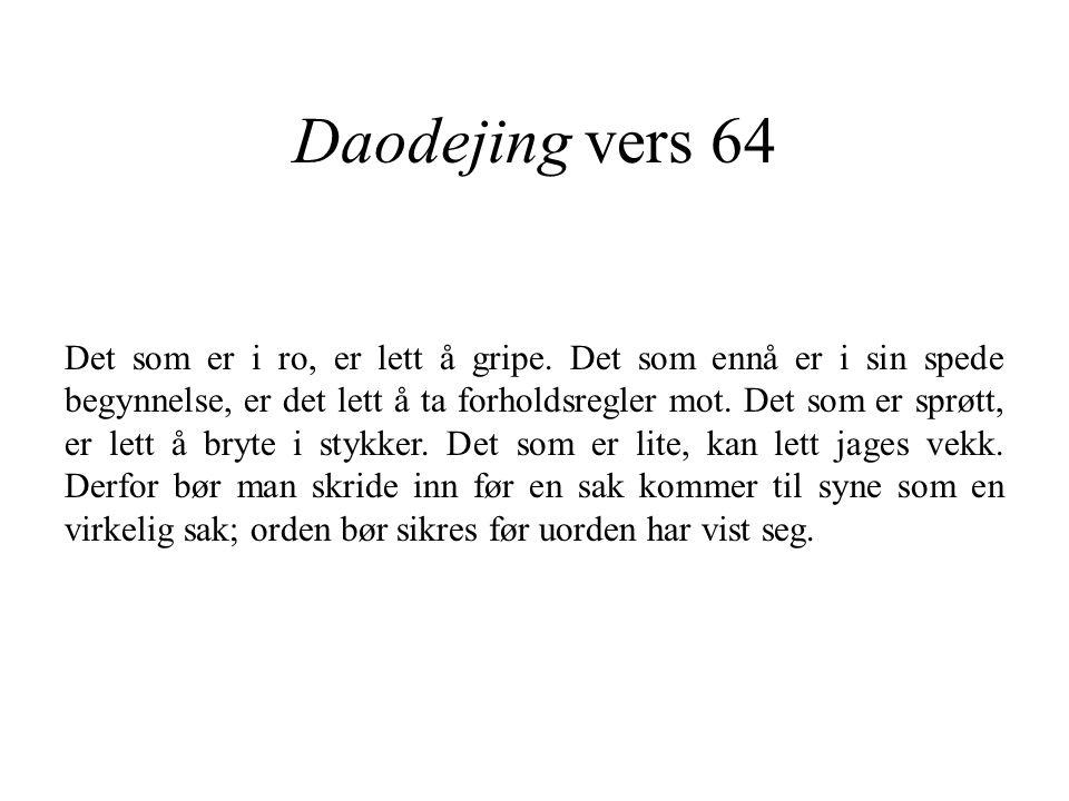 Daodejing vers 64