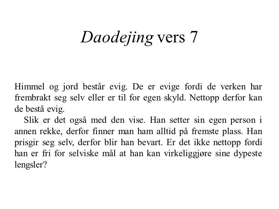 Daodejing vers 7