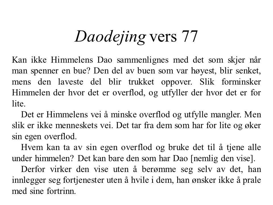 Daodejing vers 77