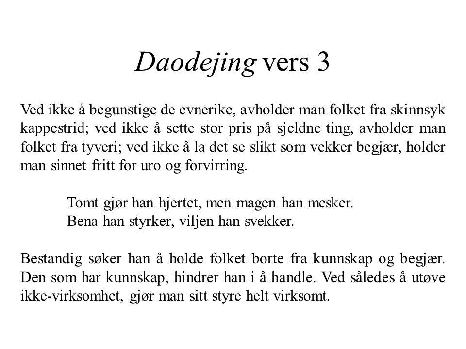 Daodejing vers 3