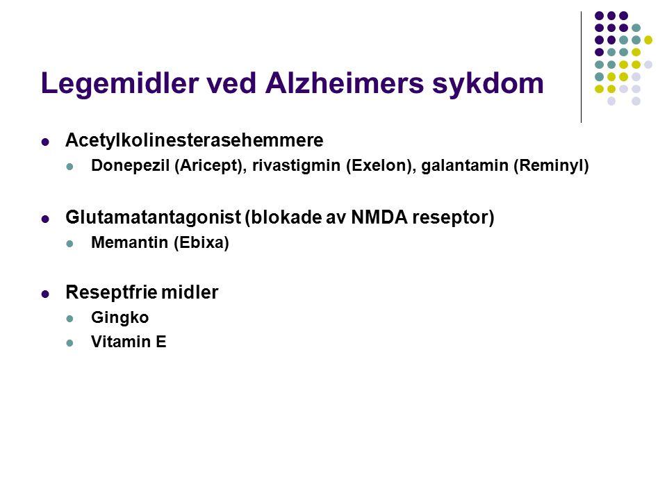 Legemidler ved Alzheimers sykdom