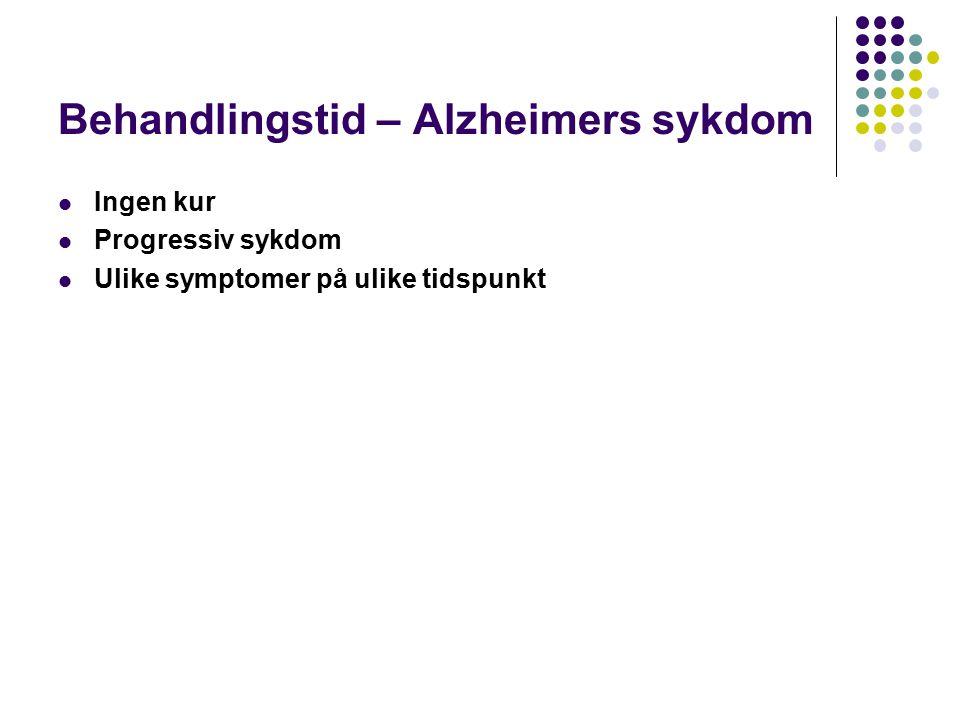 Behandlingstid – Alzheimers sykdom
