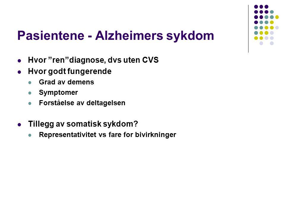 Pasientene - Alzheimers sykdom