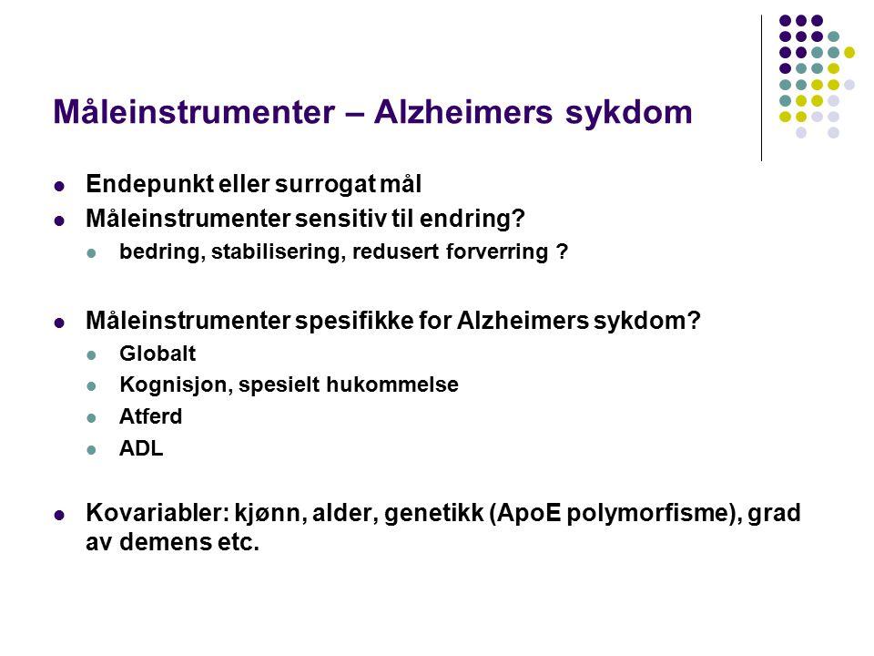 Måleinstrumenter – Alzheimers sykdom