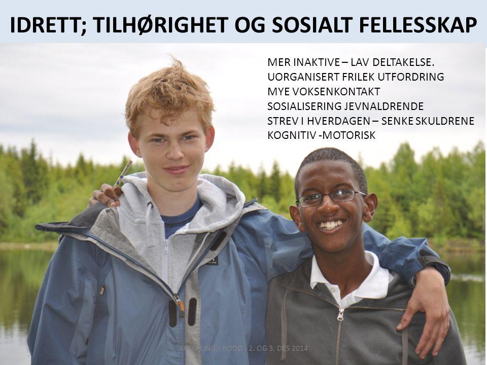 IDRETT; TILHØRIGHET OG SOSIALT FELLESSKAP