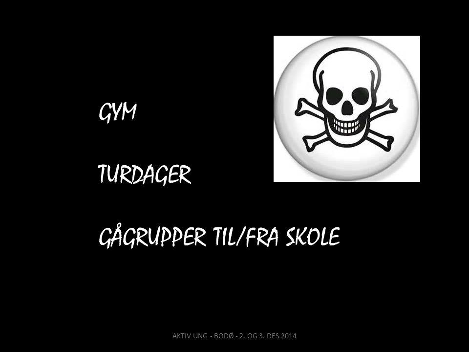 GÅGRUPPER TIL/FRA SKOLE